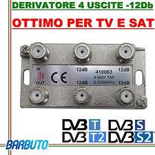 DERIVATORE 4 USCITE -12dB CONNETT. F IN PRESSOFUSIONE SIMILE AL FRACARRO DE4-12