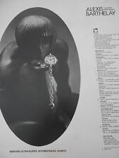Publicité 1977  Alexis Barthelay Montres Ultra Plates Quartz French AD