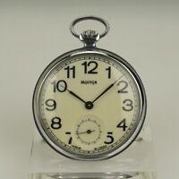 Rare! Taschenuhr MOLNIJA Herren Uhr watch Uhren no spindel chronometer duplex