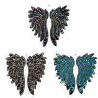 Large Angel Wings Sequined Embroidered Sew On Patches Badge Fabric Applique DIY