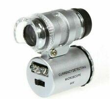 60x Handheld Mini Pocket Microscope Loupe Jeweler Magnifier LED Light