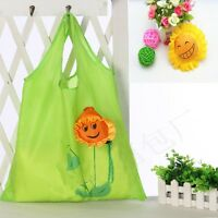Recycle Bags Folding Flowers Shopping Bag Foldable Reusable Rose And Sunflower