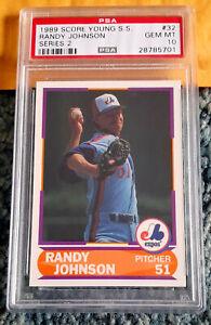 1989 Score Young Superstars 2 #32 Randy Johnson ROOKIE RC HOF PSA 10 GEM MINT