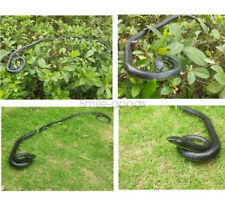 "52"" Real Rubber Fake Snake Toy Safari Garden Prop Joke Prank Halloween Gift Usa"
