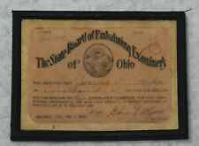 Dollhouse miniature handcrafted Medical Examiners diploma 1/12th scale