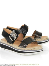 100% GENUINE KANNA PERSIS FLATFORM ESPADRILLE SANDALS BLACK RRP £120 HOLIDAY b9270fba3659