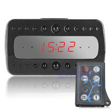 1080P Digital IR Hidden Remote Control Spy Night Vision Camera DVR Alarm Clock