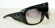RARE NEW Authentic Christian DIOR Cannage 1 Black Grey Gradient Sunglasses ATSO0
