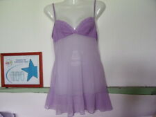 VICTORIA'S SECRET LADIES BABY DOLL SLEEPWEAR SIZE SMALL COLOR LAVENDER