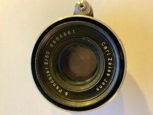 Carl ZEISS Jena PANCOLAR 2/50 Prime Lens for EXAKTA 35mm FOR SPARES OR REPAIR