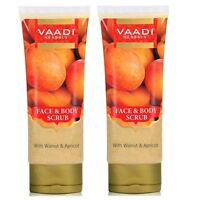 Vaadi Herbals Face and Body Scrub with Walnut and Apricot, 110g (pack of 2)