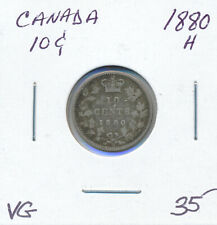 CANADA 10 CENTS 1880H - VG