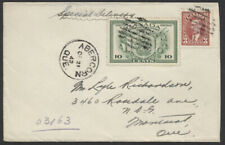 1942 Special Delivery Cover, #E10, Abercorn Que to Montreal