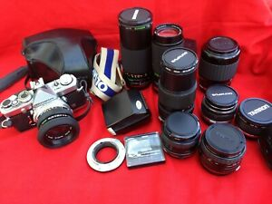 Olympus OM-1 complete camera  outfit.