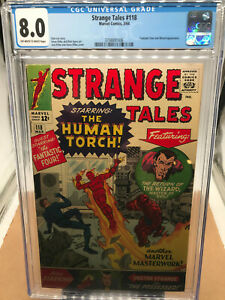 CGC 8.0 Off-white to White pages Strange Tales #118  Stan Lee, Jack Kirby