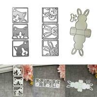 Kaninchen Hund Metall Stanzform Schablone Scrapbook Prägung Grußkarte Fast