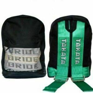 Bride & Takata Harness Backpack JDM - BLACK BASE