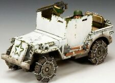 KING & COUNTRY BATTLE OF THE BULGE BBA050 U.S. ARMORED JEEP SET MIB