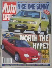 Auto Express magazine 22-28 September 1995 featuring MGF, Audi, BMW, Honda