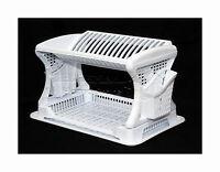Plastic Dish Drainer Stylish Design Two  2 Layer Rack  Utensil Cutlery WHITE