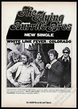 1971 The Flying Burrito Brothers photo White Line Fever record release trade ad