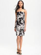 BANANA REPUBLIC WOMEN'S ABSTRACT STRAPLESS FLORAL DRESS ORG 130 SUM12  S/189085