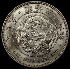 Japan 1903 (Meiji 36) Dragon 1 Yen Coin, Silver, Y#A25.3, Lustrous Uncirculated!