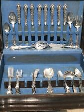 62pc Watson Wallace Meadow Rose Sterling Silver Flatware NO RESERVE * DINNER SET