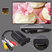 1080P HD AV & S-Video To HDMI Audio Converter Adapter+USB Cable for HDTV DVD