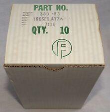 10 FIDELIPAC Model 380 NAB Tape Cartridges 100 Second - 7.5 IPS - 63 Feet NOS