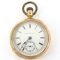 .RARE ONLY 3200 MADE 1881 IILINOIS MILLER 18S 17J TRANSITIONAL POCKET WATCH