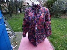 kway veste vintage multicolore S se met en boule