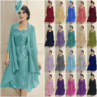 Chiffon Jacket Lace Dress Bridal Mother of the Bride Dress Women's Suits Outfits