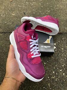 "Little Kid's Jordan Retro 4 (PS)Size 1Y ''Berry Pink""  (BQ7671 661)"