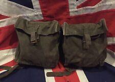 Vintage British Army 58 Pattern Webbing Kidney Pouches NI Falklands War