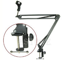 Mic Arm Stand Microphone Suspension Boom Scissor Holder For Studio Broadcast PN