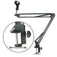 Mic Holder Suspension Boom Scissor Arm Microphone Stand For Studio Broadcast PN