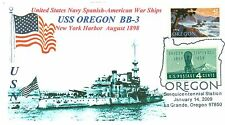 USS OREGON BB-3 Spanish-American War Battleship Photo Cacheted Naval Pictorial