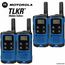 4 x MOTOROLA TLKR 141 2 VIE Walkie Walkie-talkie Set PMR 446 RADIO KIT-Blu Quad Pack