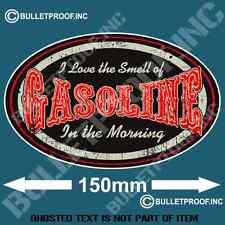 I LOVE THE SMELL OF GASOLINE DECAL STICKER RETRO HOT ROD RAT ROD BOBBER STICKERS