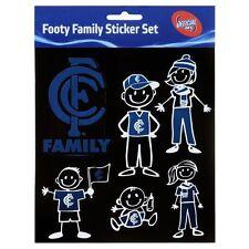 Licensed AFL Carlton Blues FAMILY Car Sticker Sheet Christmas Birthday Gift