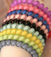 4x Spiral Plastic Hair Bands Ponytail Stretchy Elastic Bobbles Band Simple
