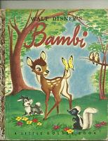 Walt Disney's Bambi Little Golden Book- J-print Bob Grant
