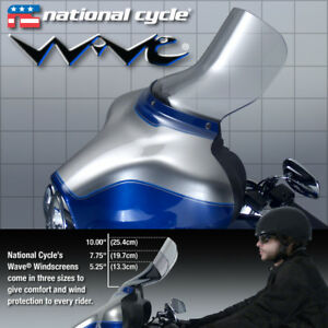"NATIONAL CYCLE WAVE 10"" CLEAR WINDSHIELD HARLEY ELECTRA GLIDE FLHTC ULTRA 96-13"
