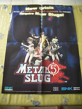 >> METAL SLUG 5 V SNK PLAYMORE NEO GEO US EURO B2 SIZE OFFICIAL POSTER! <<