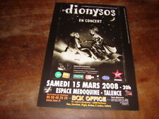 DIONYSOS - FLYER CONCERT TALENCE MARS 2008 !!!!!!!!!!!!