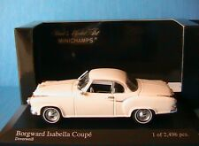 BORGWARD ISABELLA COUPE 1959 WHITE MINICHAMPS 400096020 1/43 DOVER WEISS BLANCHE