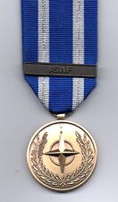 *** NEW***  NATO MEDAL WITH CLASP  ISAF -  MINIATURE MEDAL