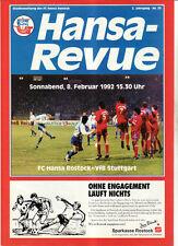 BL 91/92 FC Hansa Rostock - VfB Stuttgart