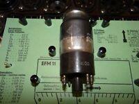 Telefunken EFM 11 Tube 6mA Valve Magisches Auge auf Funke W19 geprüft BL 1790